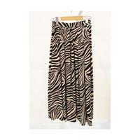 zebra flare skirt