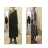 One-sided belt shoulder jumper skirt