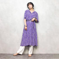 LESLIE pattern purple one-piece-399-7