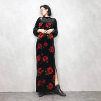 lorsay rose black maxi dress-776-12