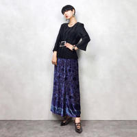 Noriko Morihara pleats black tops-610-10