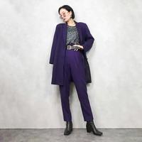 ADO Elegance purple wool long jacket-822-1