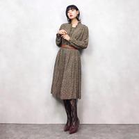 Groumere rétro brown dress-559-9