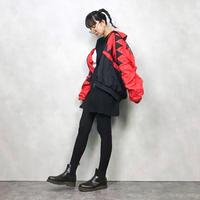 LAVON red nylon jacket-618-10