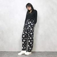 Monotone relax pattern pants-531-9