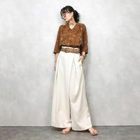 AMENTE pattern brown shirt-438-7