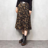 Paisley deep color  skirt-607-10