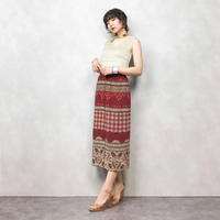 JEAN CLAUDE red long skirt-327