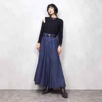 CircieT BY MARILYN LENOX denim long skirt-535-9