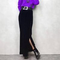 ALEX velvet long skirt-699-11