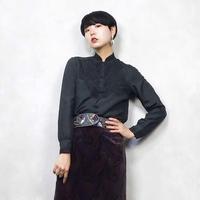 Lace neck china silk shirt-669-11