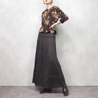 Dark brown eagle long skirt-865-2