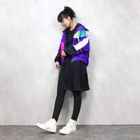 LAVON purple nylon jacket-562-9