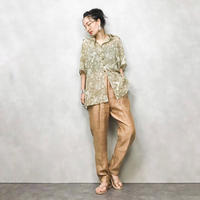 Gold Swirl buttan import shirt-376-7