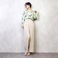 EXCELLENT pistachio green pale shirt-907-2