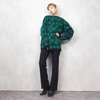 Norvyk boat neck green knit-808-1