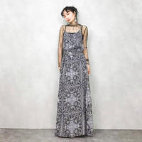 Paisley grey maxi one piece