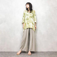 bibiana bycdru green flower shirt-427-7