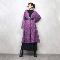 Quilting cloth purple long jacket