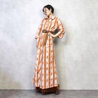 Sears paisley pattern maxi dress-876-2