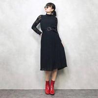 Simple black pleats in a dress