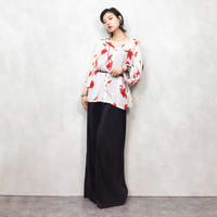 SAMOON red flower shirt-424-7