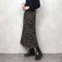 Chatoyer paisley flare skirt-815-1