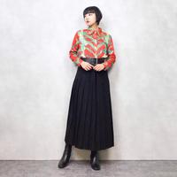 Christina red pattern shirt