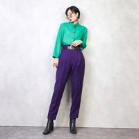 Vivid Green stand collar shirt-882-2