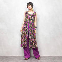 dressbarn purple flower one piece