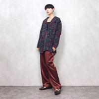 Burgundy flower jacket-594-10