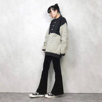 Rag Poets over size wool100 knit-722-11