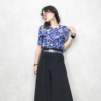 Sea design blue shirt-363