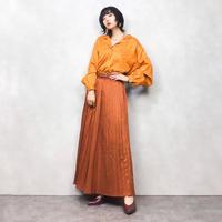Claude Bennett orange rétro shirt-540-9