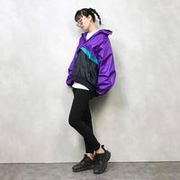 Seattle Blues purple nylon jacket-578-9