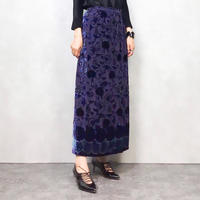 Tachibana  deepblue long skirt-608-10