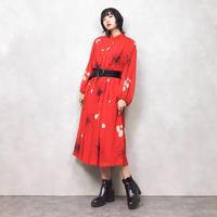 Del mod red long dress-545-9
