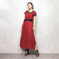 Embroidery led import vintage dress-464-8