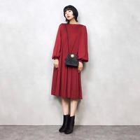 Genetpelsone wine red dress-521-9