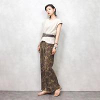 Tie dye pattern pleats pants-432-7