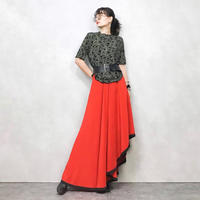 MADE IN FRANCE Michel Goma silk skirt-441-7