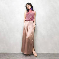 WAYANCRIT seethrough pink shirt-324