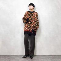 NR NEW RIVERCO rhombus wool knit-801-12