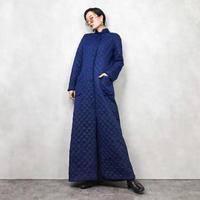 HUBER quilting long coat-843-1