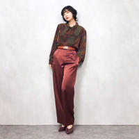 MUGERES ribbon brown shirt-512-8