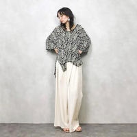 Ethnic pattern big silhouette shirt-373-7