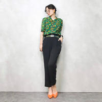 AGASA leaf dot green shirt-359