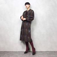 TAKATOMI ELEGANCE  brown dress-580-9