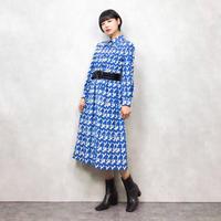 Sky blue pattern dress