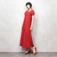 Moth red long one piece